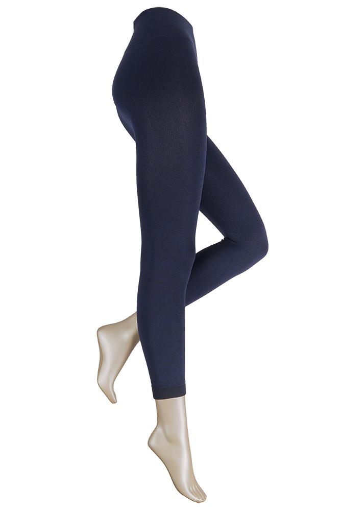 Thermo dames legging met comfort boord-XXL Plus-Marine