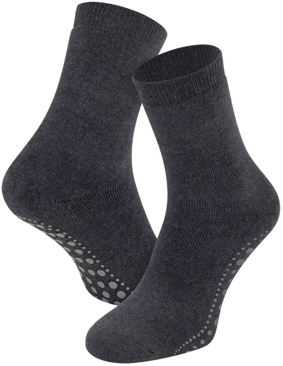 Antislip sokken van katoen-Antraciet-35/38