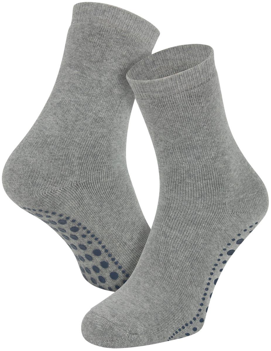 Antislip sokken van katoen-Light grey melange-39/42