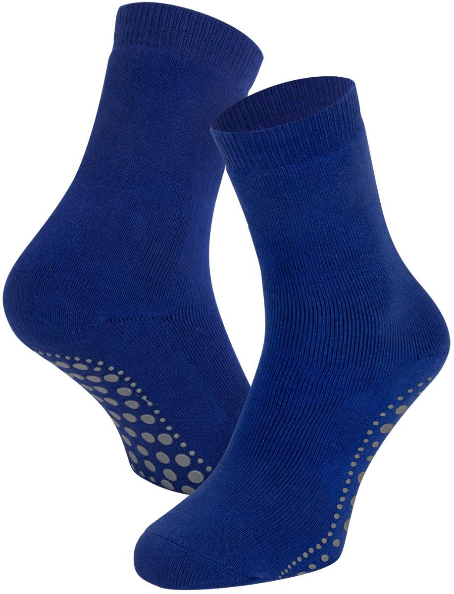 Antislip sokken van katoen-Kobalt-35/38