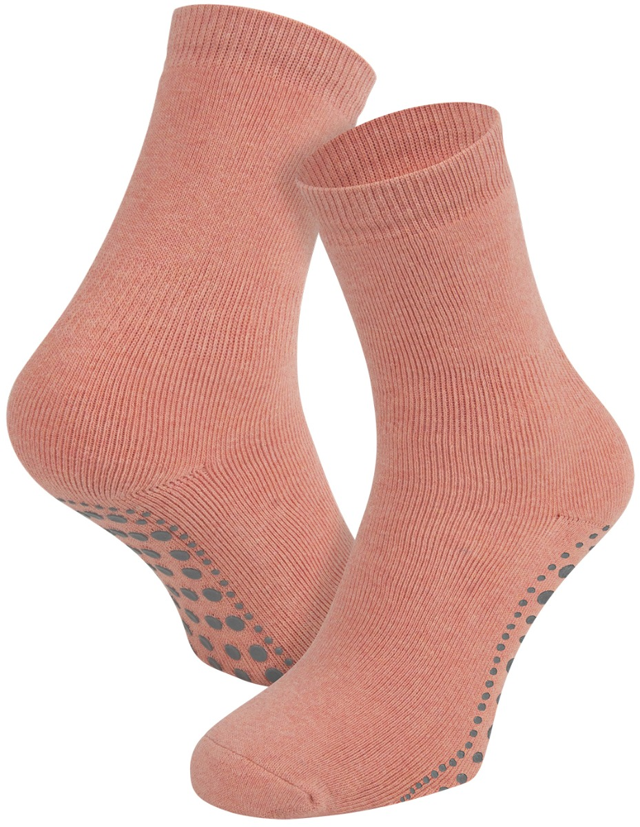 Antislip sokken van katoen-Peach melee-39/42
