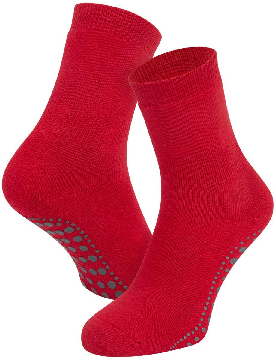 Antislip sokken van katoen-Red-43/46