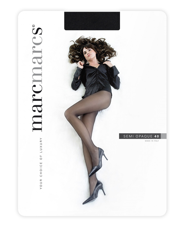 Semi opaque 40 denier panty-M-Black