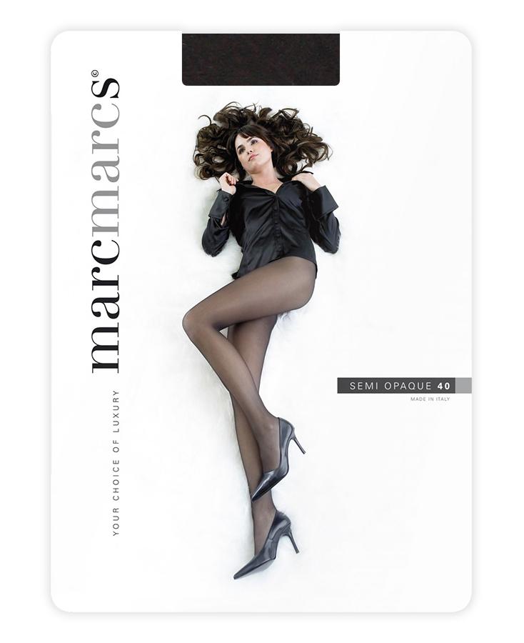 Semi opaque 40 denier panty-L-Chocolate