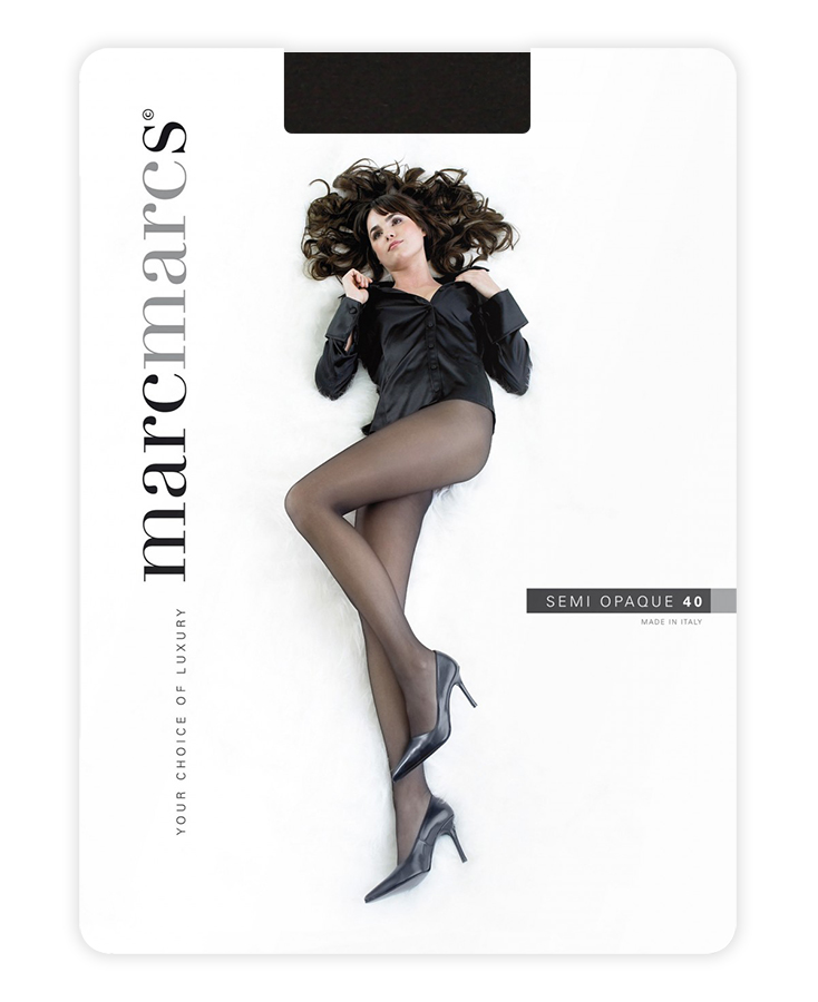 Semi opaque 40 denier panty-M-Nearly black