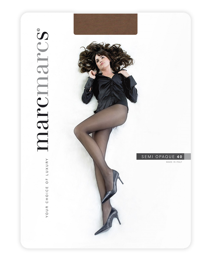 Semi opaque 40 denier panty-S-Taupe