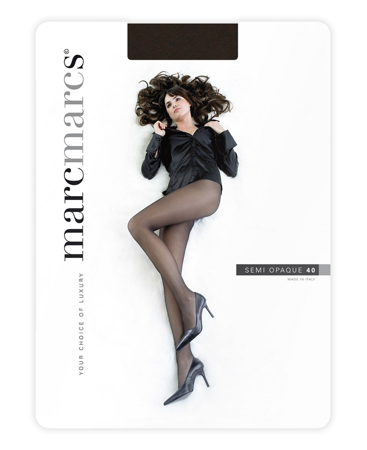 Semi opaque 40 denier panty-S-Tobacco