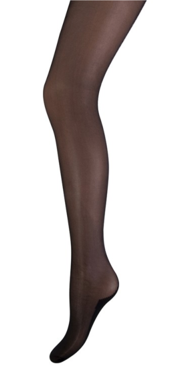 20 denier panty met glitter naad-L/XL-Black | Black