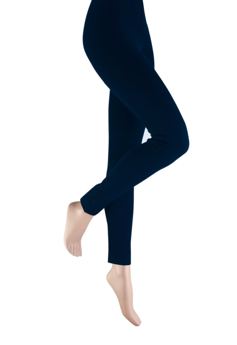 Dames legging van katoen-M-Navy