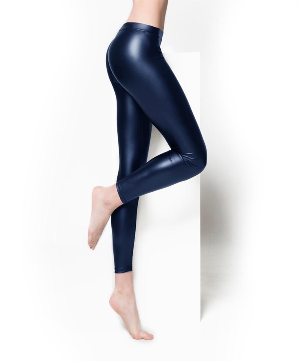 Leatherlook legging-L/XL-Marine