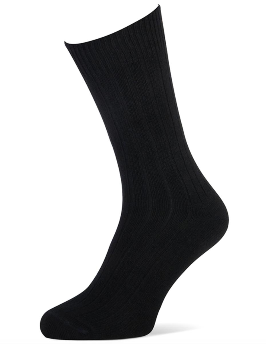 Herensokken met cashmere wol-39/42-Black