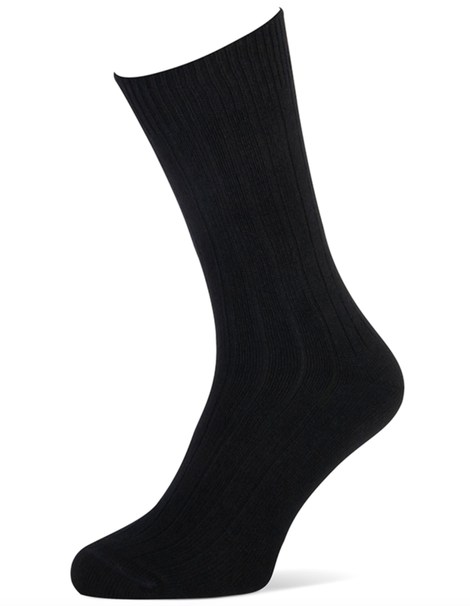 Herensokken met cashmere wol-43/46-Black