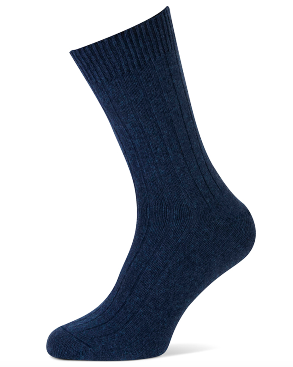 Herensokken met cashmere wol-39/42-Dark jeans