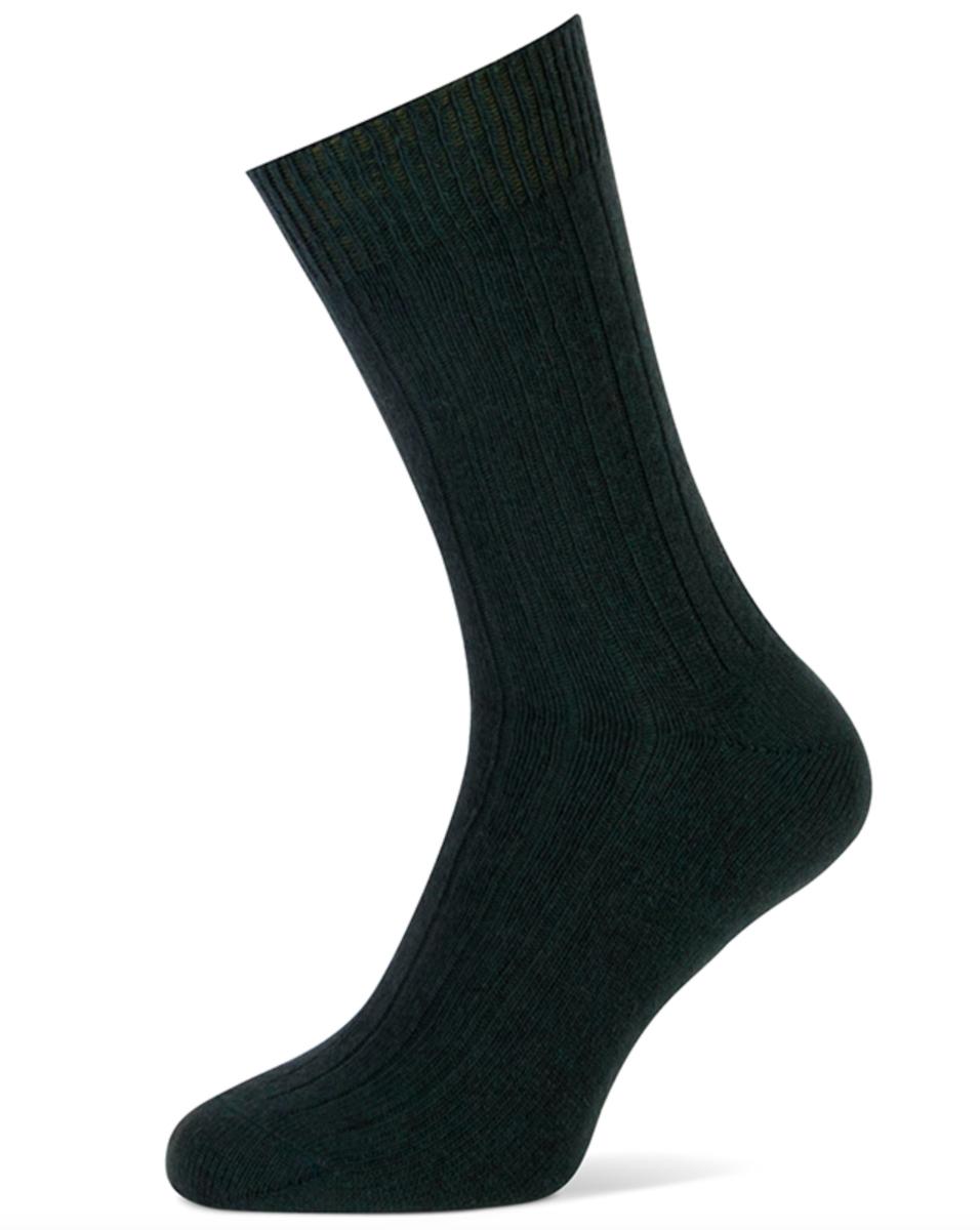 Herensokken met cashmere wol-43/46-Green