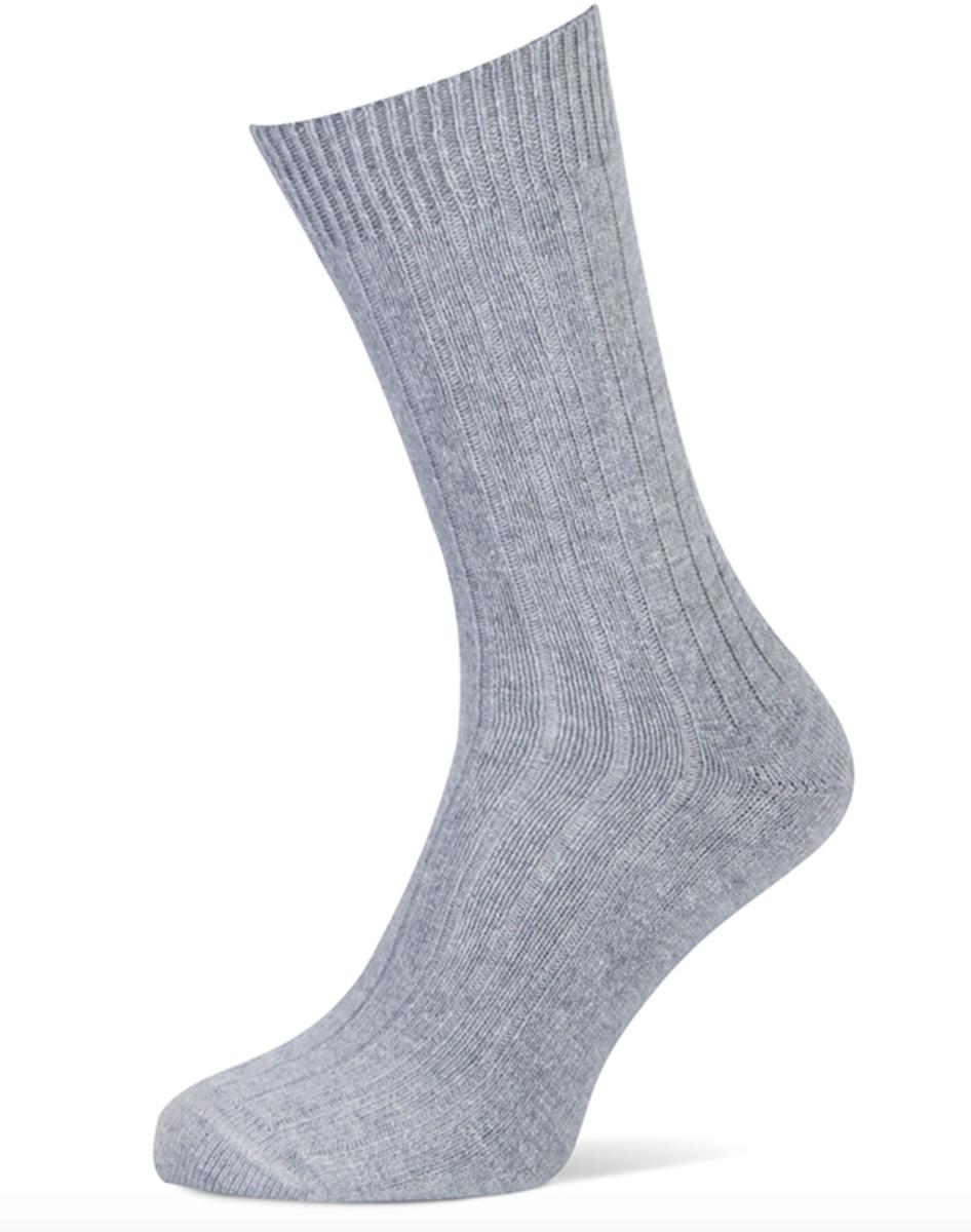 Herensokken met cashmere wol-43/46-Grey