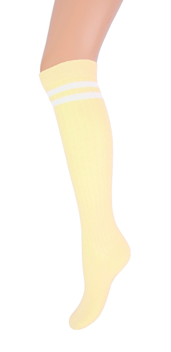 Kniekous met streep YM-Light yellow-31/34
