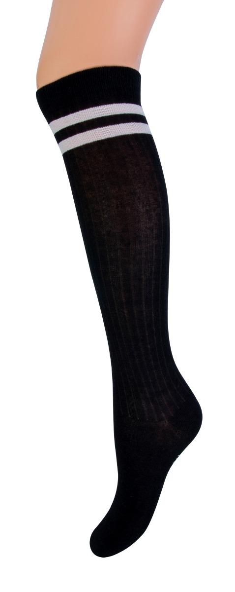 Kniekous met streep YM-Black-23/26