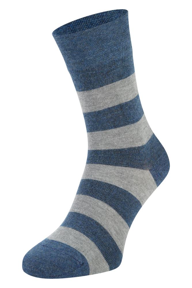 Bamboe sokken met strepen-Jeans-39/42