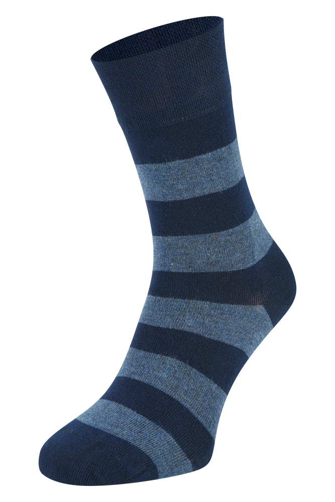 Bamboe sokken met strepen-Navy-35/38