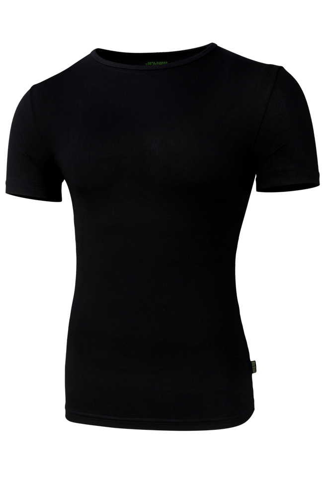Bamboe t-shirt met ronde hals-L-Black