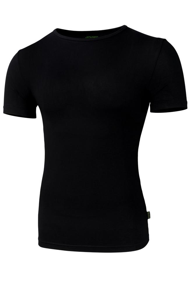 Bamboe t-shirt met ronde hals-XXL-Black