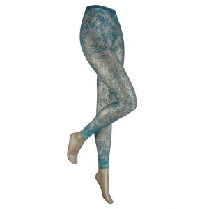 Net legging in bloem motief