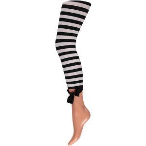Gestreepte panty Legging 60 denier.
