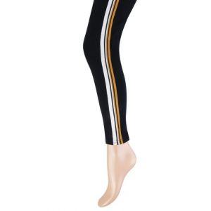 Katoenen dames legging gebreide streep