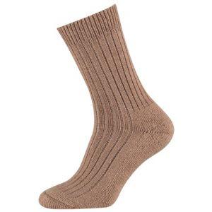 Wollen sokken met een badstof zool