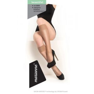 Lycra Kniekous 15 denier satin sheers