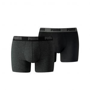 2-pack basis boxershorts puma darkgrey/ black
