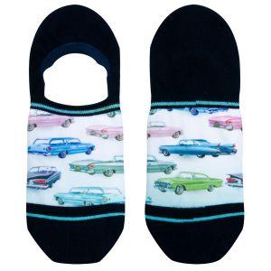 Footies sneakersokken met auto print