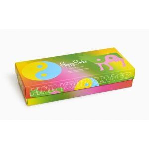 4-Pack Smile Yin Yang Socks Gift Set 36-40