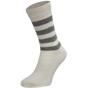 Cashmere wollen sokken met strepen motief