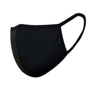 Mondkapjes van katoen zwart 5 pack