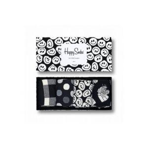 Happy socks black and white giftbox