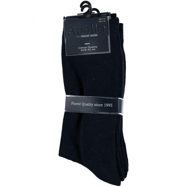 Katoenen sokken met badstof zool