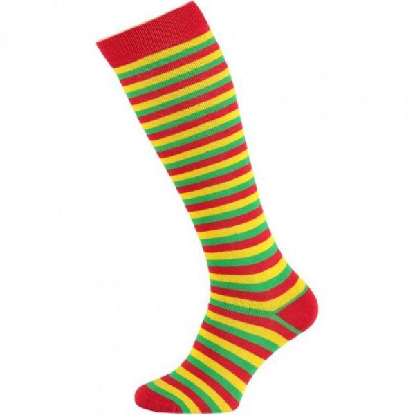 Gestreepte kniekousen apollo sokken-online carnaval letterdief