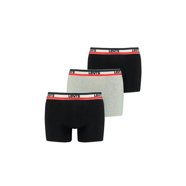 Levi's   Men logo boxer brief 3-pack   sokken-online.nl