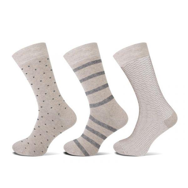 Beige Teckel herensokken van Katoen met stip en streep | sokken online