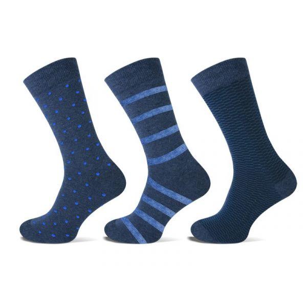 blauwe Teckel herensokken van Katoen met stip en streep | sokken online
