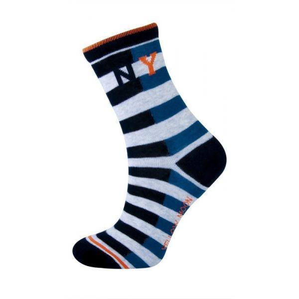 Katoenen Jongens sokken met strepen NEW YORK