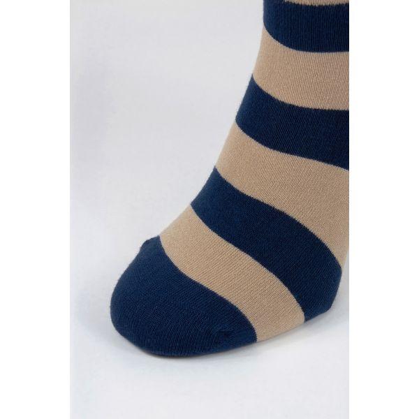 Bamboe sokken met brede strepen motief