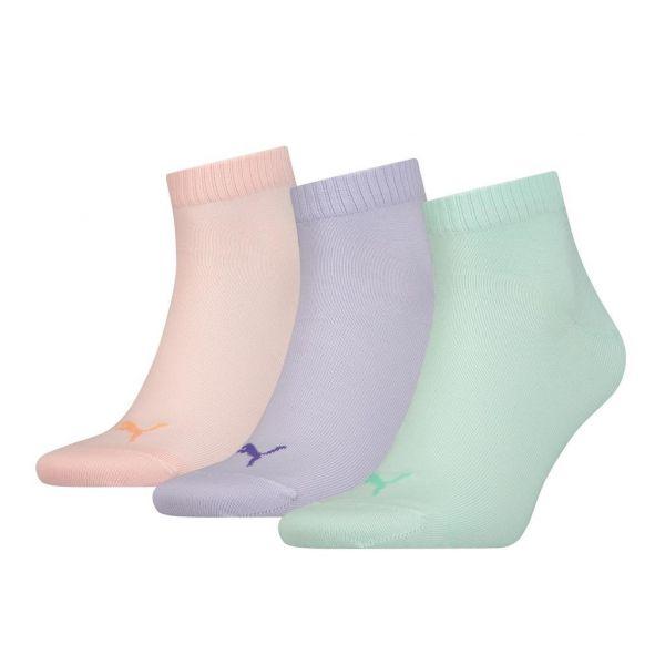 PUMA UNISEX QUARTER PLAIN 3P pastel| sokken online