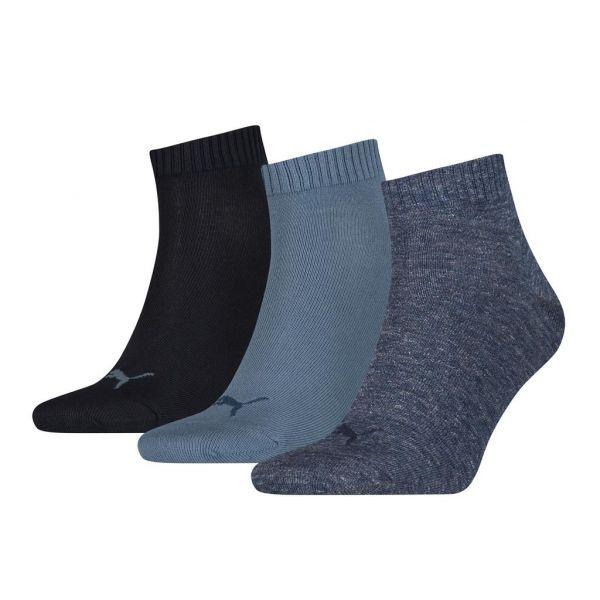 PUMA UNISEX QUARTER PLAIN 3P  jeans | sokken online