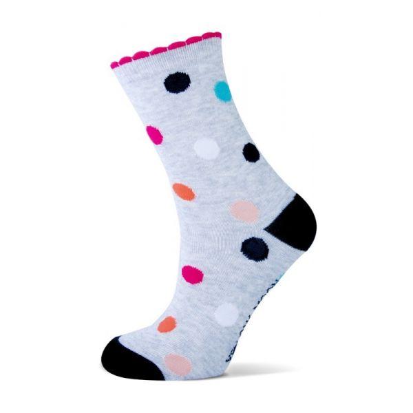 Katoenen meiden sokken met  Stippen en strepen.