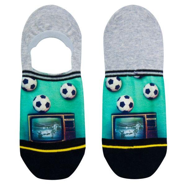 Footies sneakersokken met voetbal print