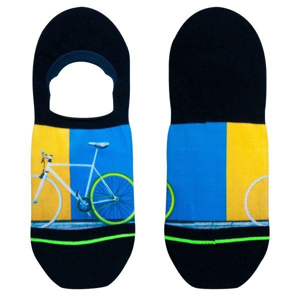 Footies sneakersokken met fiets print
