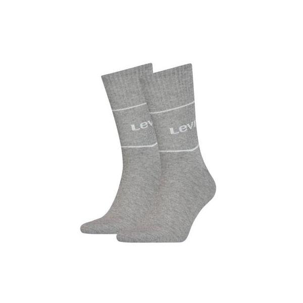 Levi's   2 pairs short sock van organisch katoen  sokken online.nl