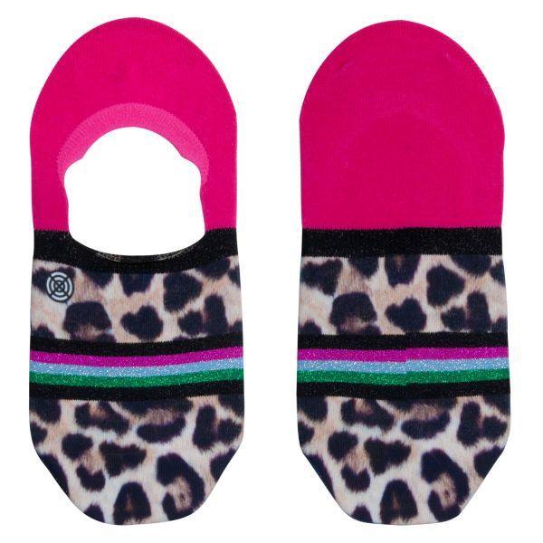 Footies sneakersokken met panterprint
